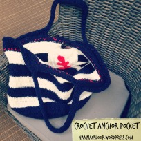 Anchor Pocket in Nautical Bag