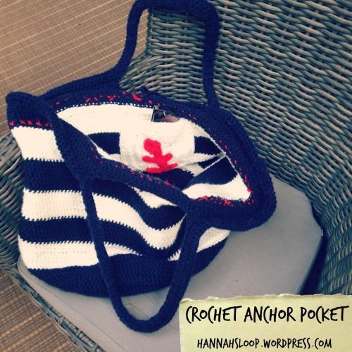 Anchor Pocket in Nautical Bag