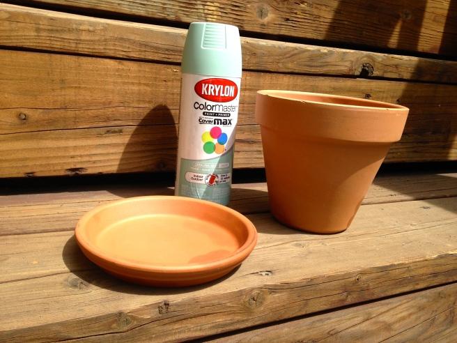 Terra cotta pot & spray paint