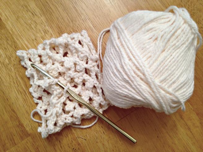 Crochet cozy in progress