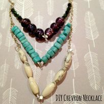 chevron necklace square