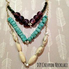 chevron necklace square