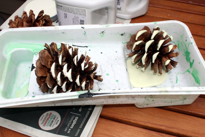 painting pinecones.JPG