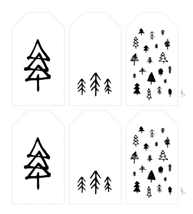 hand drawn tags